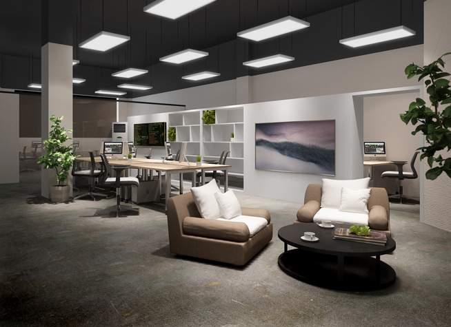 办公空间               销售部办公区(半开放式设计,加强了与主入口图片